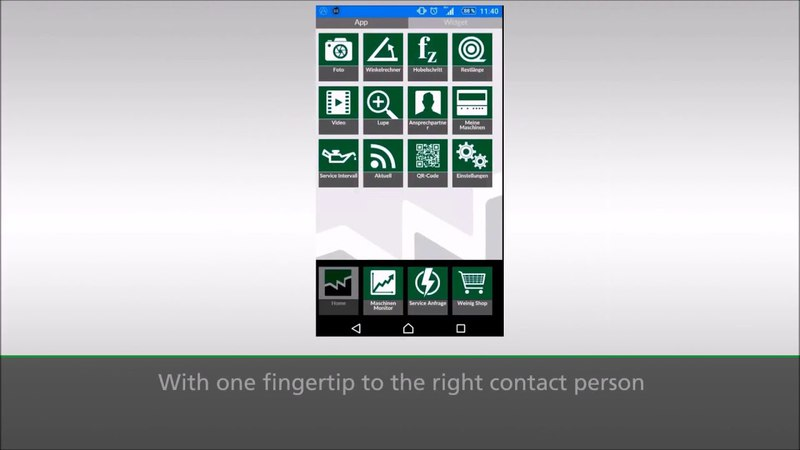 WEINIG Service App Suite The digital future in your hands