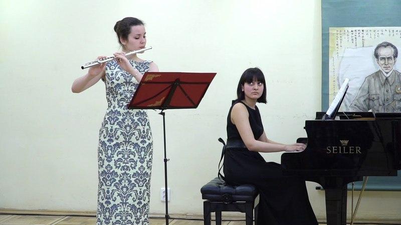 П. Хиндемит – Соната для флейты и фортепиано 2,3 части. Исп.: Александра Зверева, Мария Куртынина