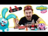 Смешарики Live и Алекс Гараж: Уроки катания на скейтбордах!