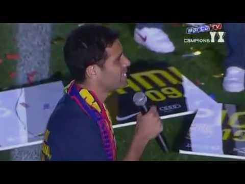 Rafael Marquez hablando en catalan despues de Barcelona campeon La Liga BBVA 2010 HD 720p