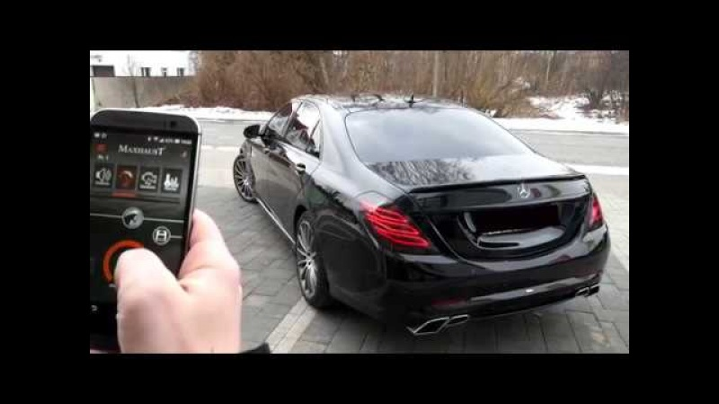 Mercedes-Benz S350d W222 V222 with Maxhaust active exhaust and Carlsson bodykit