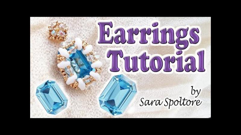 How to bezel a 4610 Swarovski crystal - DIY beaded earrings tutorial - DIY jewelry