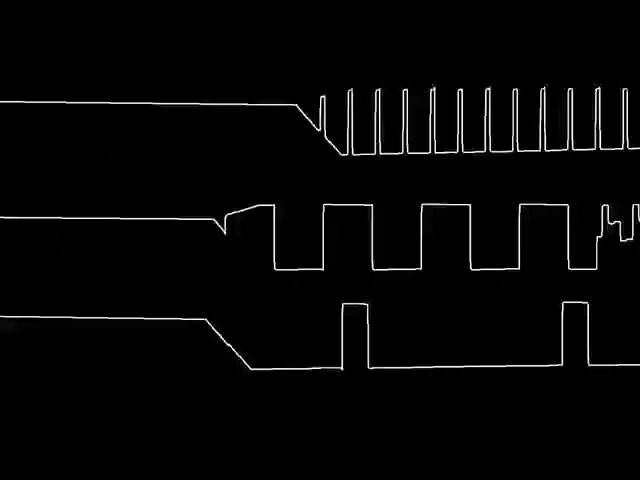 C64 Rob Hubbard's International Karate oscilloscope view