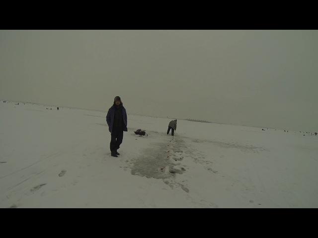 Рыбалка на корюшку 11.02. Финский залив. Северная дамба. Горбатый мост