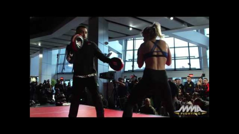 Paige VanZant UFC on FOX 22 Open Workout Complete