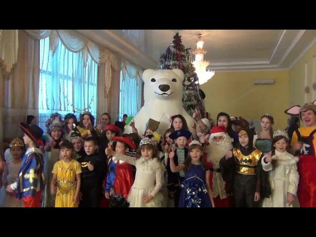 Новогодняя елка акима Карасуского района с участием учащихся школ региона в Карасу (декабрь 2017)