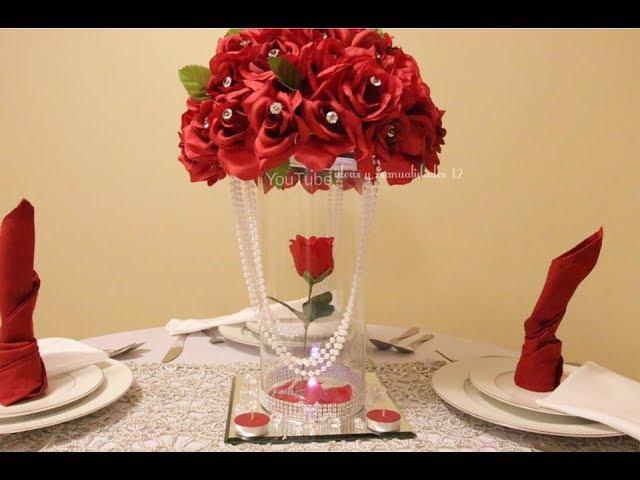 Centro de mesa para bodas, 15 años elegante y original muy fácil y económico