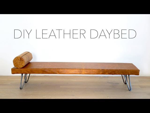 DIY Leather Daybed