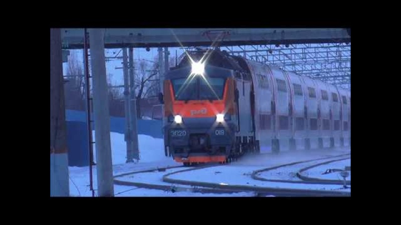 ЭП20-019 с фирменным поездом 739Ж Воронеж → Москва
