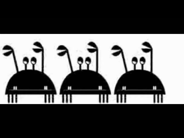 Вирусное видео Танцующий Крабик в черно белом .Данс краб