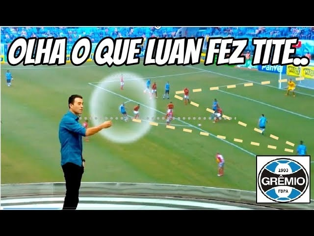OLHA O QUE LUAN do Grêmio fez contra o Inter Rizek indignado por Tite dizer que ele não tem posição