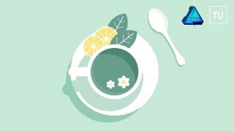 The Mint Tea Vector Illustration - Affinity Designer