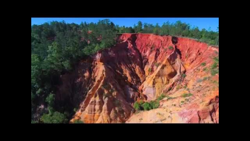 4k Aerial Drone Video - Mississippi Red Bluff