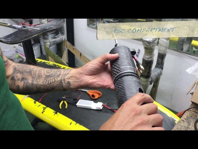 PART 3 ELECTRIC JET SURF SUP FOIL, FULL CARBON FIBER, prototype 1 update