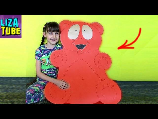ОГРОМНЫЙ Медведь Валера ИЗ КАРТОНА новый ЛАБИРИНТ для Хомячков своими руками DIY LizaTube