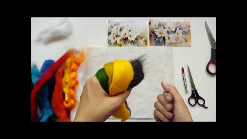 Как нарисовать акварельный фон шерстью