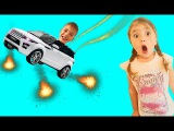 Bad Baby FLYING on Car Learn Color with Bad Mommy Nursery Rhymes Songs for Children Toys for Kids