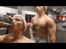 Drunk Santa Trains Chest Biceps!