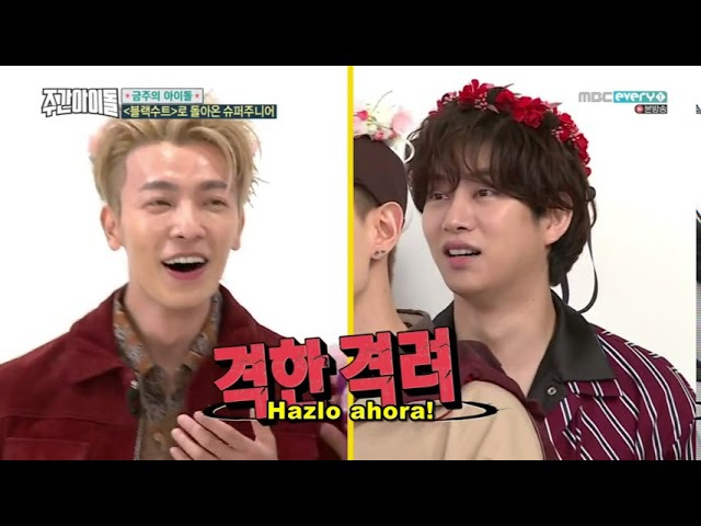 [SUB ESP] Weekly Idol E328 parte1 08-11-2017 Super Junior
