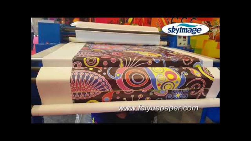 Sublimation Calender Heat Transfer Machine for Textile Printing with 100gsm Sublimation Paper