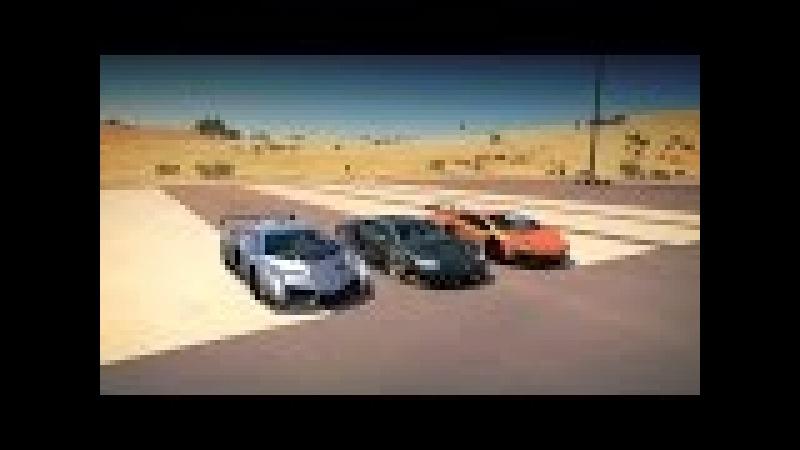 Lamborghini CENTENARIO vs VENENO vs AVENTADOR SV LP750 4 Drag Race Forza Horizon 3