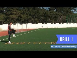 Football coaching video - soccer drill - ladder coordination (Brazil) 1