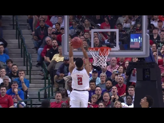 S.F. Austin vs. Texas Tech Zhaire Smith throws down a 360 alley-oop
