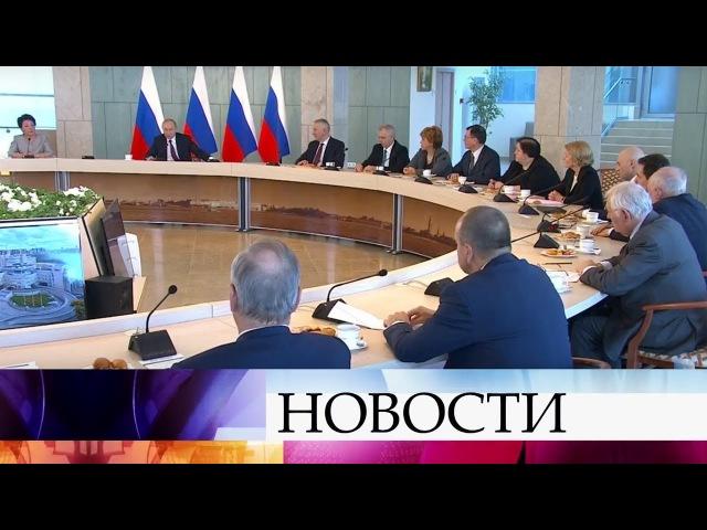 16.03.2018 Владимир Путин в Санкт-Петербурге посетил НМИЦ имени В.А.Алмазова.