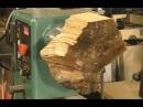 Кривое,гнилое полено из поленницы!!!    228 Wood-turning firewood to a $50 Tiger Bowl