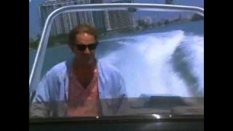 MIAMI VICE Miami Malibu Theme Crockett's Coast Speed Boat Race against Gangster Rock House R.T.D.