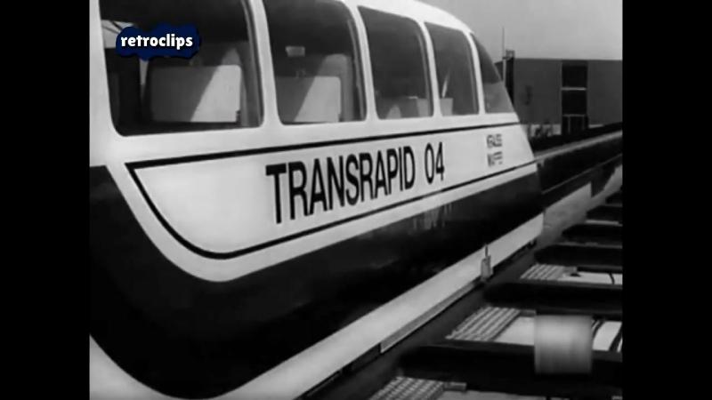 The first high-speed maglev trains Messerschmitt MBB Komet Krauss-Maffei Transrapid (1977)