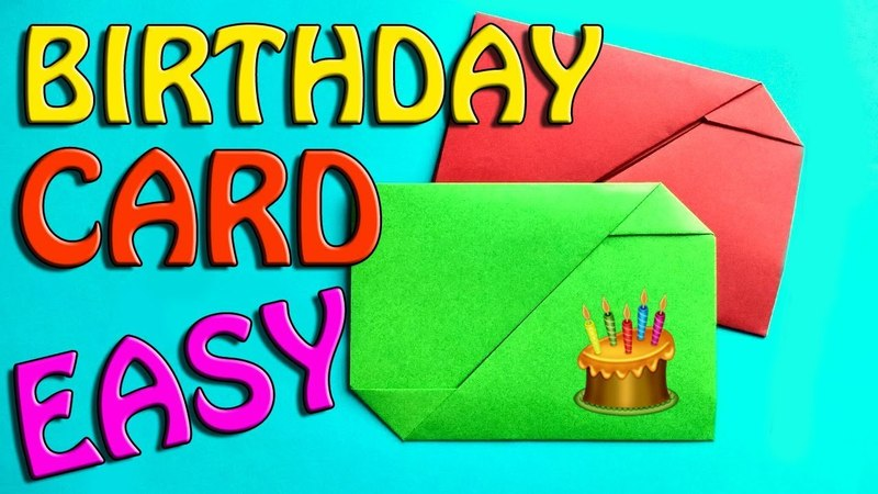 How To Make An Envelope Origami For Kids. Easy Paper Craft For Beginners. Gift Card For Birthday