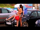 Car erotic show in Russia with the girls in bikinis