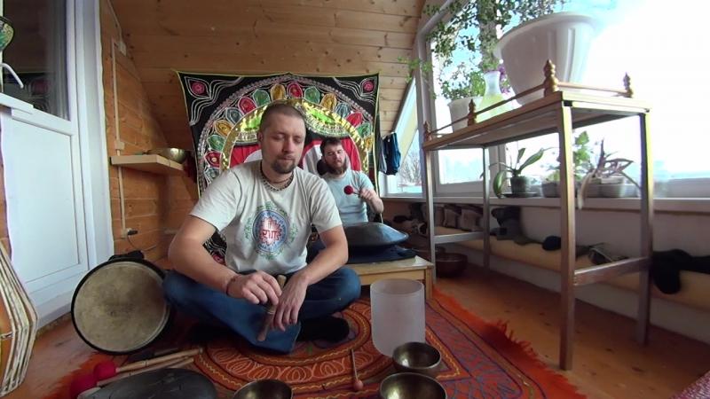 Новая мелодия. Поющие тибетские чаши, Ханг, медитативная музыка. В ожидании Весны 2018.