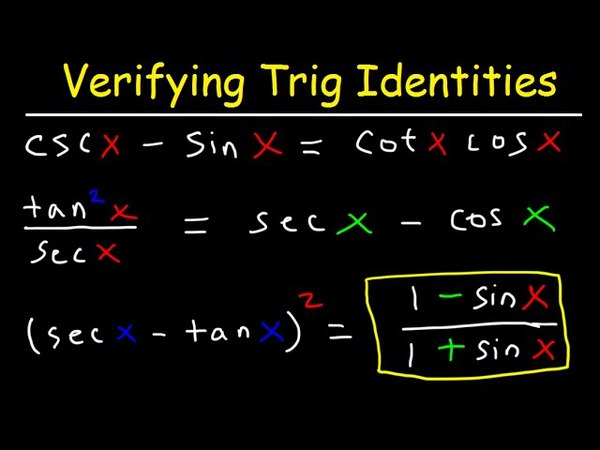 Verifying Trigonometric Identities Equations, Hard Examples With Fractions, Practice Problems