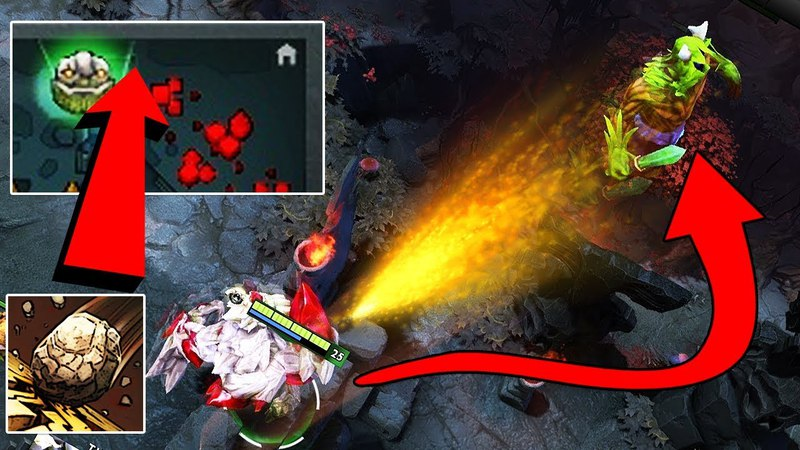 Dota 2 Tricks: Tiny can permanently disable Back Door Protection with Toss!