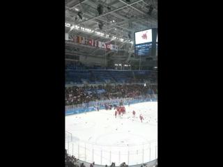 Золотой гол наших хоккеистов 🏒😎🇷🇺👏💯🔝💥❤️ и наши Олимпийские чемпионы 🥇🥇🥇🔝😎🏒 Ураа!!!😍