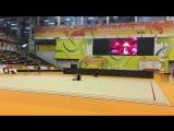 Арина Аверина - мяч (опробование) // Чемпионат Европы 2018, Гвадалахара