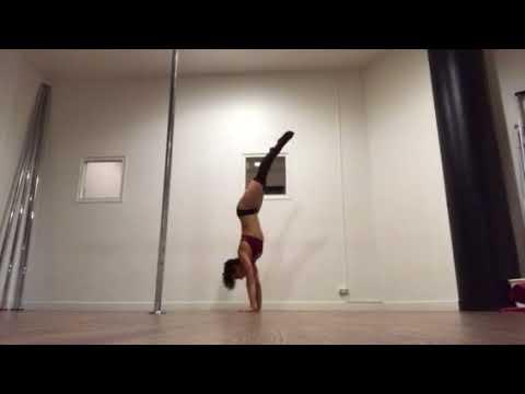 Doris Arnold - Handstand conditioning routine - Françoise pole studio - July 2017