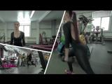 Диана Волкова (Россия) - красивая фитнес-бикини модель. Тренировка в фитнес зале.. Рекомендую!