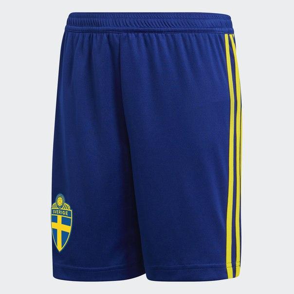 Домашние игровые шорты сборной Швеции