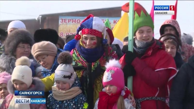 В Саяногорске Масленицу отмечали в новом этно-культурном комплексе. 19.02.2018