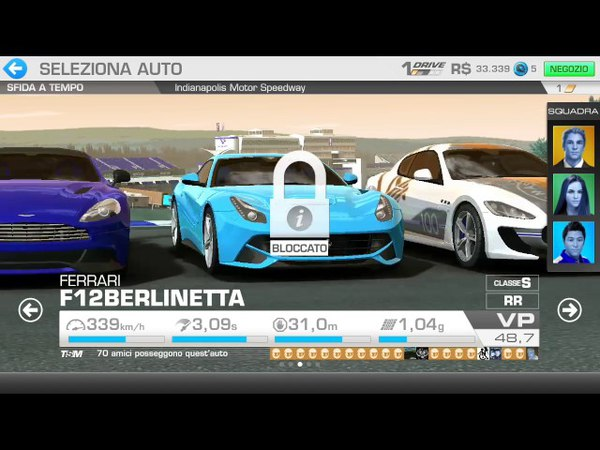 Real Racing 3 Sfide a tempo.