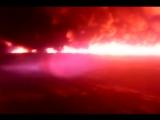В Саратовской области горит нефть