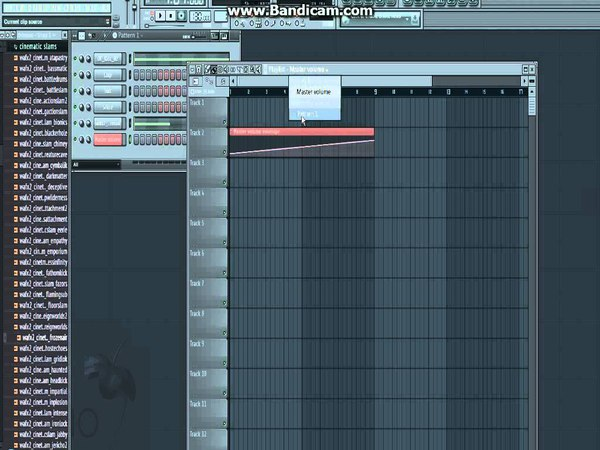 Нарастание звука в FL Studio