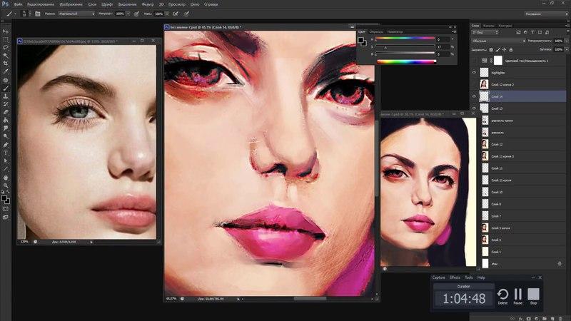 Stylised portrait SONiA BEN AMMAR in photoshop quick video
