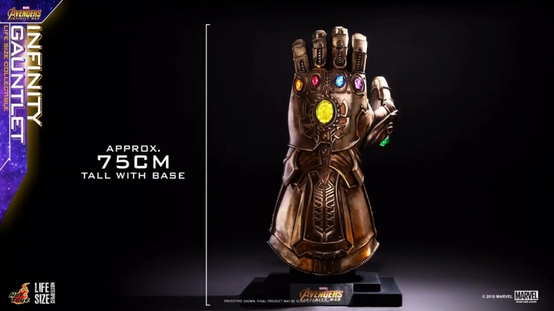 Avengers: Infinity War - Infinity Gauntlet Life-Size Collectible by Hot Toys