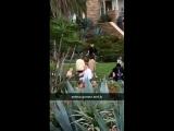 February 10: Fan taken video of Justin and Selena Gomez in Laguna Beach, California.