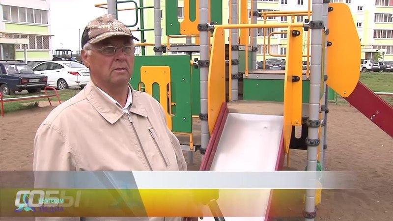 Опасные качели в Нижнекамском дворе - телеканал Нефтехим (Нижнекамск)
