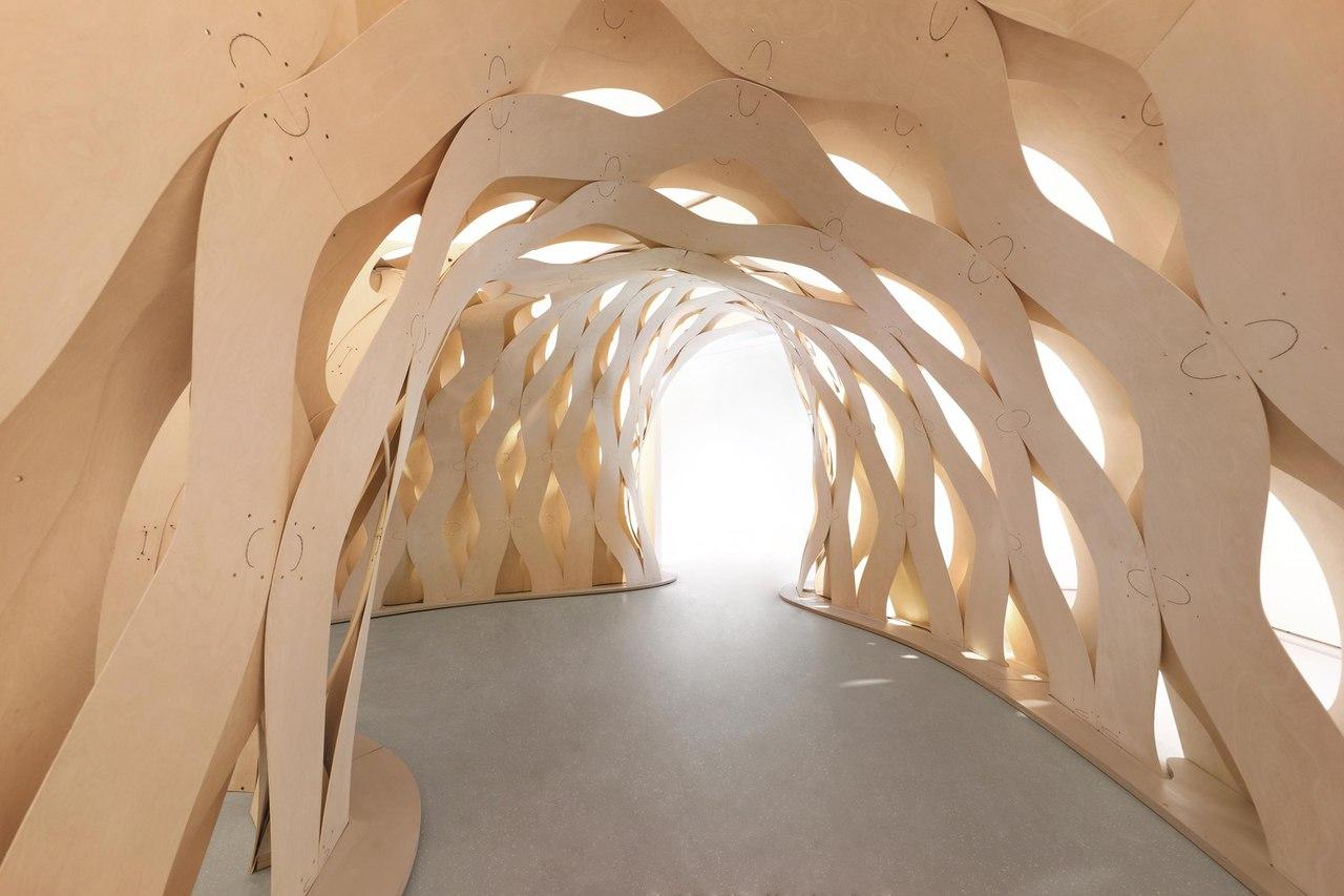 Sewn Timber Shell / ICD University of Stuttgart   DDRC Tongji University